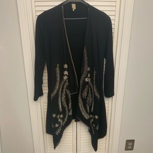 XCVI - 10% Cotton Cardigan w/ polyester embroidery